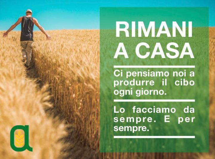 Coronavirus: Confagricoltura aderisce alla campagna #iorestoacasa