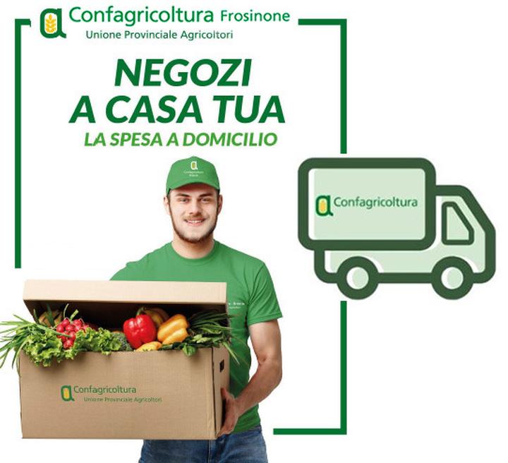 """#compralocalecompraciociaro, """"la spesa a domicilio"""": Affidati alle aziende nostre associate, riceverai i prodotti direttamente a casa tua"""