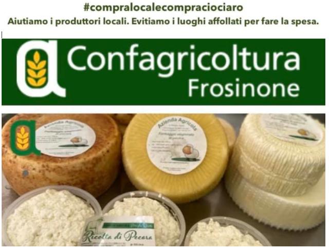 #compralocalecompraciociaro: questo lo slogan dell'iniziativa lanciata da Confagricoltura Frosinone a sostegno delle proprie aziende
